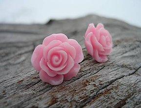 Náušnice - Náušnice Růžičky Sweet Rose napichovačky (NEREZOVÉ) - 7660129_