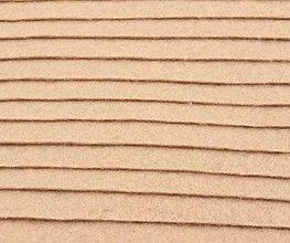 Textil - F14 - Filc - 20x30 cm, hrúbka 1 mm - svetlo-hnedá - 7657380_
