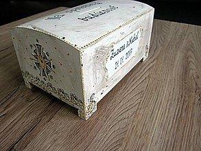 Krabičky - pokladnička s ornamentmi a patinou - 7656999_