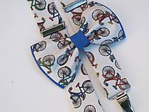 Doplnky - Pánsky motýlik a traky- set pre milovníkov cyklistiky - 7658470_