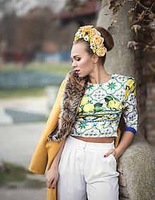 Ozdoby do vlasov - Kvetinová parta \