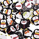 Galantéria - Gombík pinguin - 7659905_