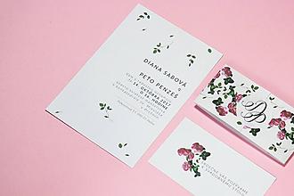 Papiernictvo - Lístočky a ružičky - 7660024_
