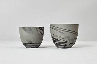 Nádoby - SMOKE šedý, Šálka, keramický hrnček, hrnček - 7660552_