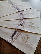 Úžitkový textil - Ľanové prestieranie - sada 6 ks - 7657305_