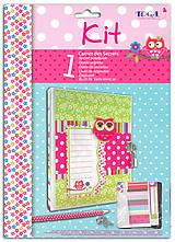 Papier - KR46 Tajný zápisník na kľúč Sovičky - 7657853_
