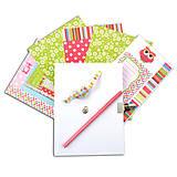 Papier - KR46 Tajný zápisník na kľúč Sovičky - 7657854_