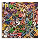 Polotovary - AE11 Kovové farebné zatváčacie špendlíky v sade - 7658004_