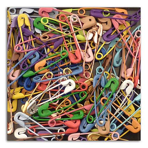 AE11 Kovové farebné zatváčacie špendlíky v sade