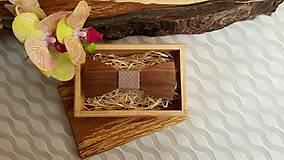- Pánsky drevený motýlik - 7656458_