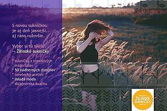 Darčekové poukážky - Nová značka módy : žilinské sukničky - 7658329_