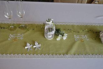 Úžitkový textil - svadba vo farbe roka-behúň na stôl - 7658605_