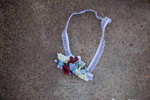 """Kvetinový podväzok pre nevestu """"už zvony zvonia"""""""