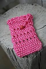 Taštičky - ružové vrecko - 7657167_