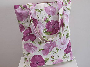 Nákupné tašky - ...maky fialové... - 7657549_