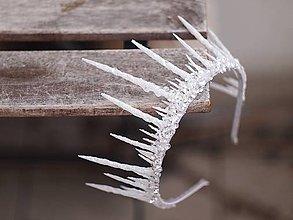 Ozdoby do vlasov - korunka pro ledovou královnu či zimní nevěstu - 7657699_