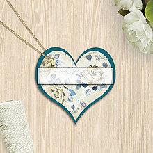 Papiernictvo - Valentínska menovka (10 (kvety)) - 7659909_