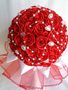 Kytice pre nevestu - Červené ruže - 7662099_