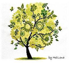 Obrázky - Výšivka - Jarná pieseň - stromy - 7663915_