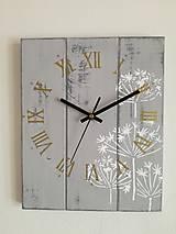Nástenné hodiny - kvetinky white