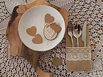 Darčeky pre svadobčanov - Čipkované svadobné magnetky - dotyk prírody:-) - 7663068_