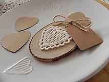 Darčeky pre svadobčanov - Čipkované svadobné magnetky - dotyk prírody:-) - 7663070_