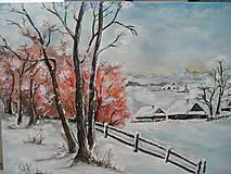 Obrazy - Zima na dedine - 7661711_