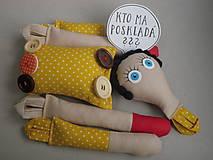 - Gombíková bábika Frederika - 7662937_