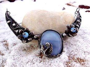 Náhrdelníky - cínovaný náhrdelník - čierna labuť - 7661677_