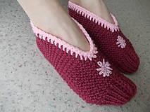 """Obuv - Pletené """" papuče ) Balerínky - 7662272_"""