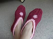 """Obuv - Pletené """" papuče ) Balerínky - 7662295_"""