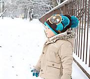 Detské čiapky - Čiapka s medvedíkom - 7661726_