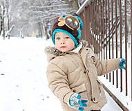 Detské čiapky - Čiapka s medvedíkom - 7661727_