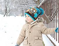 Detské čiapky - Čiapka s medvedíkom - 7661728_