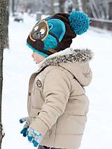 Detské čiapky - Čiapka s medvedíkom - 7661729_