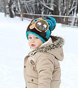 Detské čiapky - Čiapka s medvedíkom - 7661730_