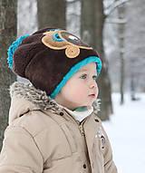 Detské čiapky - Čiapka s medvedíkom - 7661732_