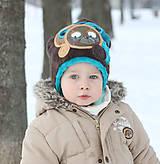 Detské čiapky - Čiapka s medvedíkom - 7661733_