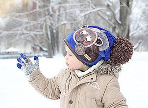 Detské čiapky - Čiapka s medvedíkom - 7663132_
