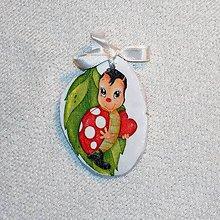 Dekorácie - Drevená Valentínka Zamilovaná lienka - 7660664_