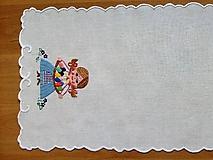 Úžitkový textil - Vyšívané prestieranie - richelieu - pestrofarebné, 58 x 28 cm - 7660733_
