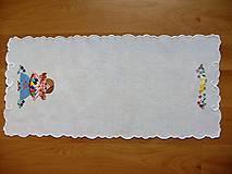 Úžitkový textil - Vyšívané prestieranie - richelieu - pestrofarebné, 58 x 28 cm - 7660734_