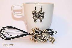 Sady šperkov - Sada náušničky sovičky+náhrdelník :) - 7661053_