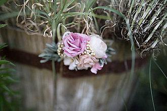 Ozdoby do vlasov - Nežný kvetinový hrebienok \