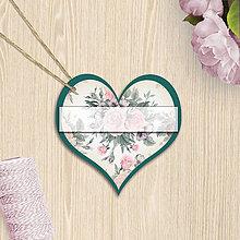 Papiernictvo - Valentínska menovka (13 (kvety)) - 7662417_