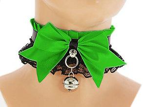 Iné doplnky - Obojok čipkový, gothic lolita, kawaii, gothic pastel, kitten play collar, BDSM, petplay collar, 10G - 7666560_