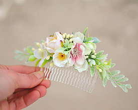 Ozdoby do vlasov - Kvety v závoji... - 7666839_