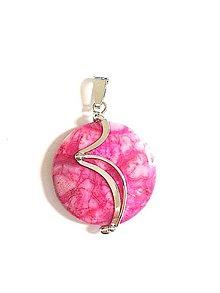 Iné šperky - Prívesok jaspis farba ružová - 7668036_