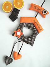 Dekorácie - Pomarančový domček - 7665197_
