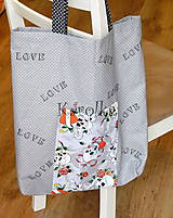 Nákupné tašky - Nákupná taška - Sivá ZĽAVA z 9,50 na  8€ - 7665976_
